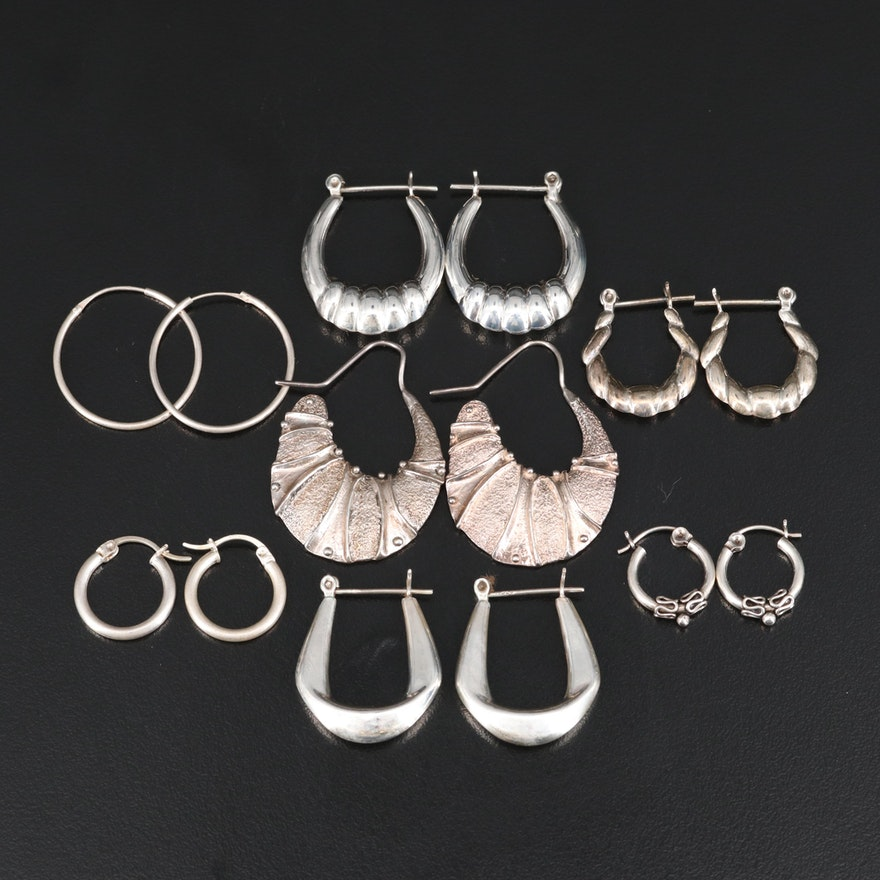 Sterling Hoop Earring Assortment