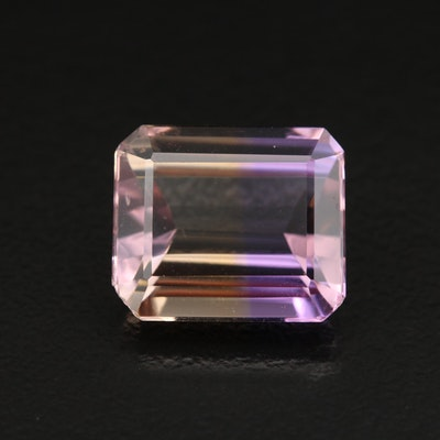 Loose 5.89 CT Cut Cornered Rectangular Faceted Ametrine