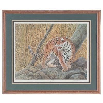 "John Ruthven Offset Lithograph ""Bengal Tiger,"" 1989"