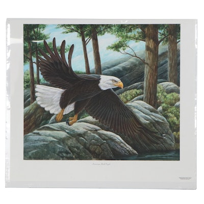 "Giclée after John Ruthven ""American Bald Eagle"""