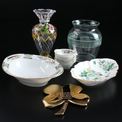 Nippon Hand-Painted Porcelain Serveware and Other Décor