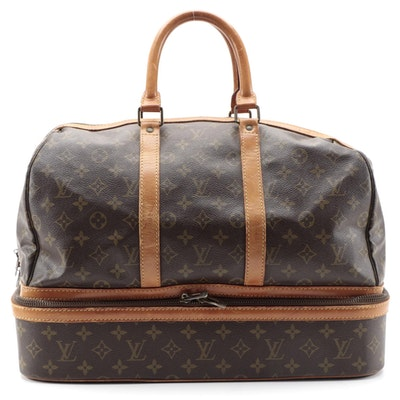 Louis Vuitton Sac Sport Travel Bag in Monogram Canvas and Vachetta Leather