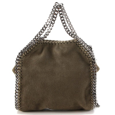 Stella McCartney Falabella Tiny Tote in Olive Green Shaggy Deer