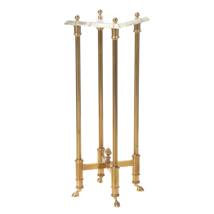 Brass and Acrylic Plant Stand