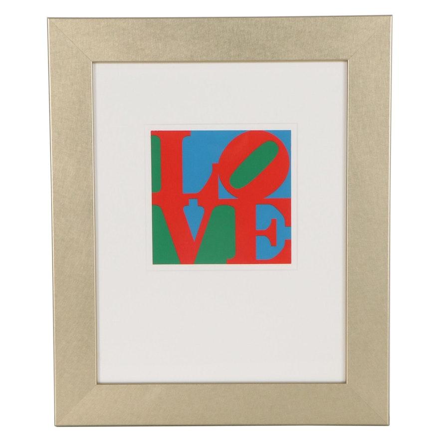 "Serigraph after Robert Indiana ""Love"""