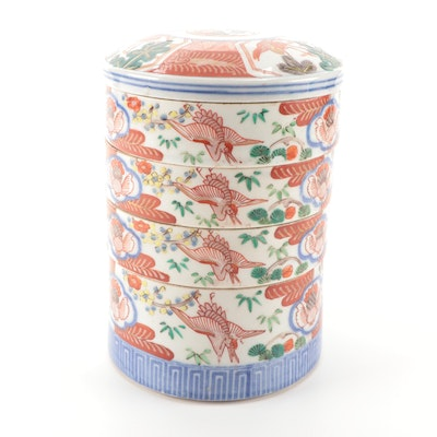 Chinese Imari Porcelain Stacking Box