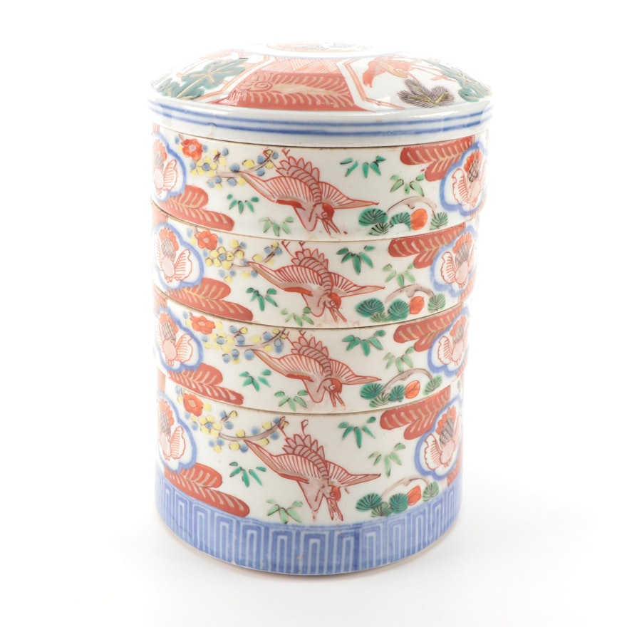 Chinese Imari Porcelain Stacking Box