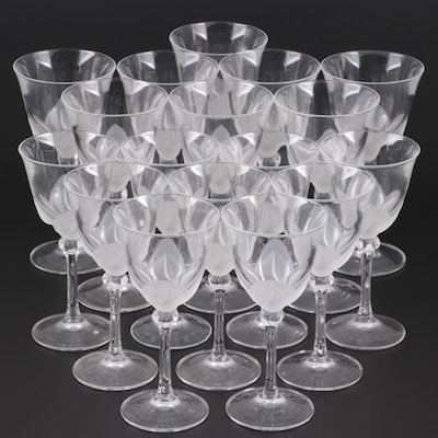 "Cristal D'Arques-Durand ""Florence"" Crystal Wine Glasses and Water Goblets"