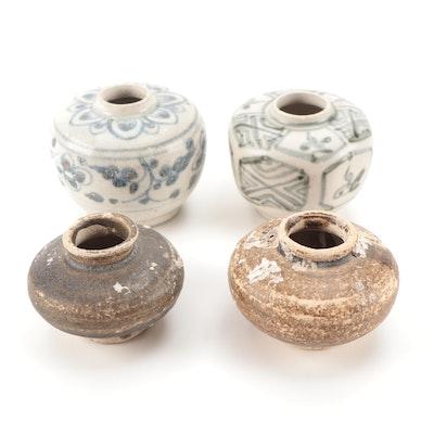 Chinese Swatow Ware Ceramic Jarlets