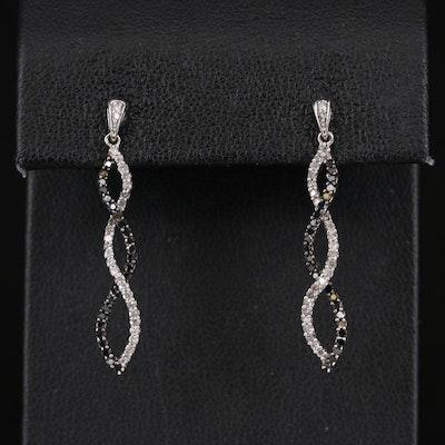 10K Diamond Twist Earrings