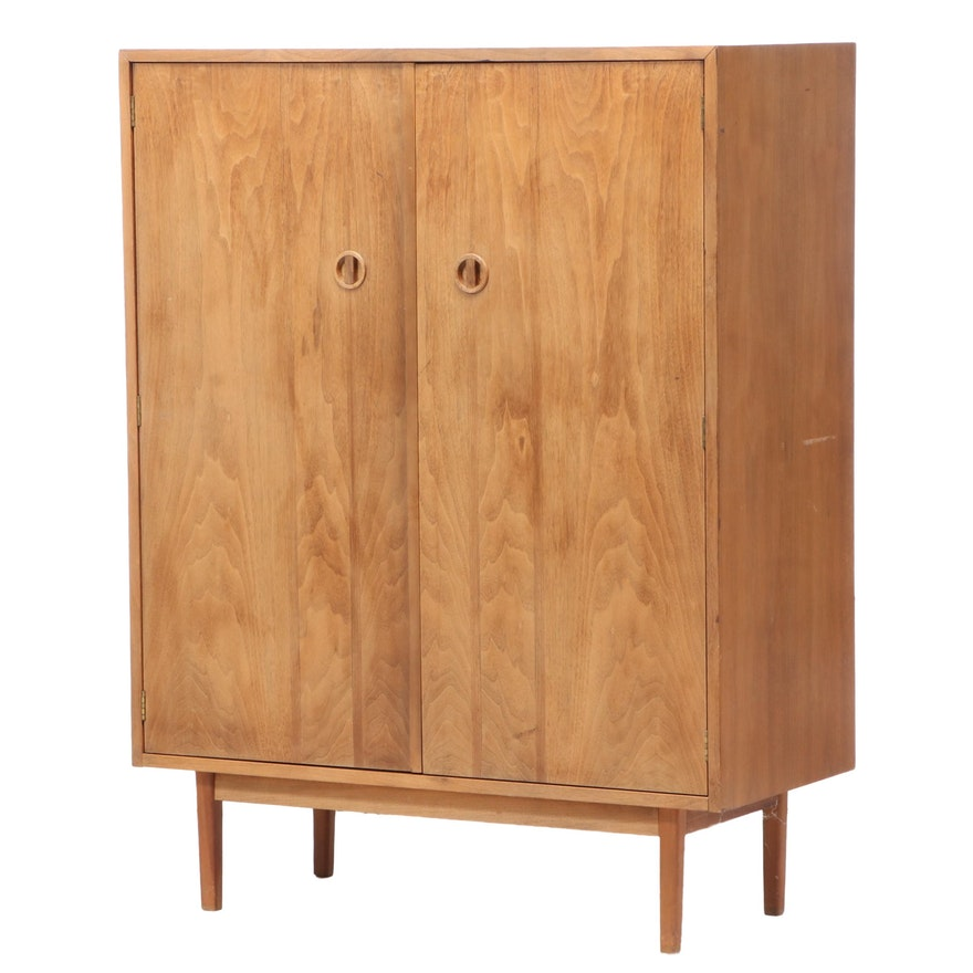 """Distinctive Furniture"" by Stanley Mid Century Modern Walnut Cabinet"