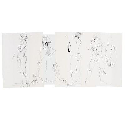 John Tuska Figure Study Ink Drawings
