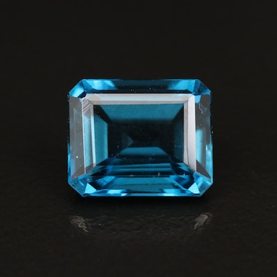 Loose 6.12 CT London Blue Topaz