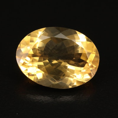 Loose 8.15 CT Oval Faceted Citrine