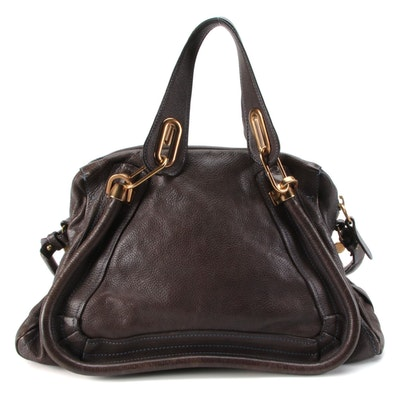 Chloé Paraty Medium Two-Way Bag in Pebbled Leather