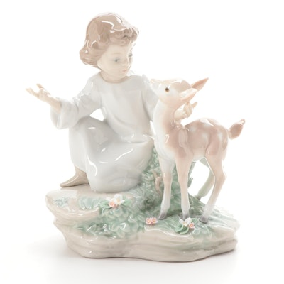 """Lladró """"And A Little Child Shall Lead Them"""" Porcelain Figurine, 2003–2007"""