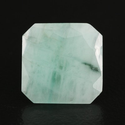 Loose 4.76 CT Cut Cornered Square Faceted Beryl