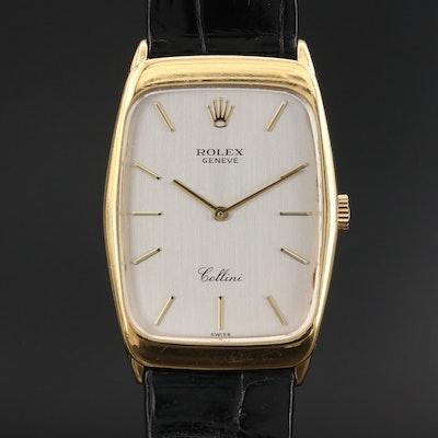 1995 Rolex Cellini 4136 18K Gold Stem Wind Wristwatch