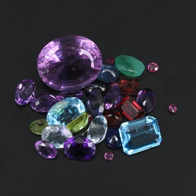 Loose 37.20 CTW Sapphires, Amethysts, Garnets and Gemstones