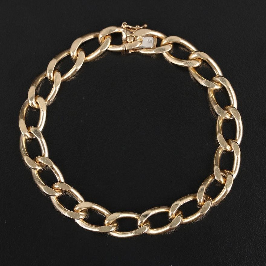 14K Curb Link Bracelet
