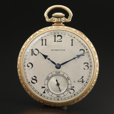 1926 Hamilton 14K Gold Filled Pocket Watch