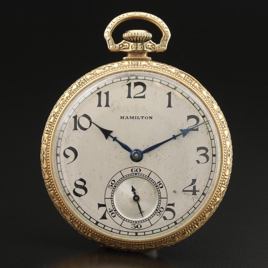1926 Hamilton 14K Gold Filled Pocket Watch