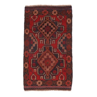 2'10 x 5'0 Hand-Knotted Afghan Turkmen Rug, 2000s