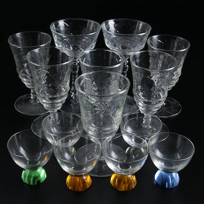 Libbey Rock Sharpe Star of David Glass Wine Goblets and Other Stemware