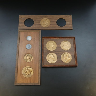 Bronze Presidential and Political Medals with Silver Rounds