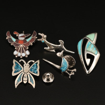 Carolyn Pollack Butterfly Pendant with Sterling Animal Inlay Pendants