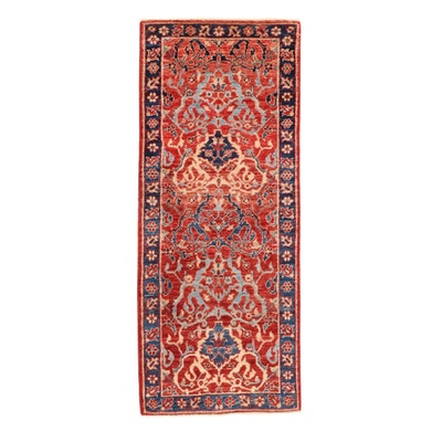 2' x 5' Hand-Knotted Afghan-Persian Tabriz Carpet Runner, 2010s