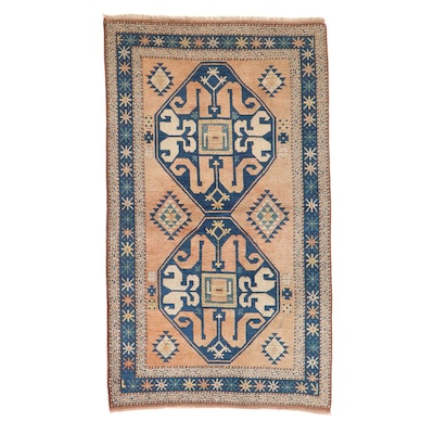 4'6 x 7'10 Hand-Knotted Turkish-Caucasian Village Rug, 1960s