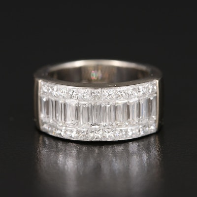 Crisscut 18K 2.45 CTW Diamond Multi-Row Band