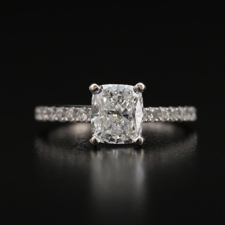 14K 1.55 CTW Diamond Ring with GIA Report