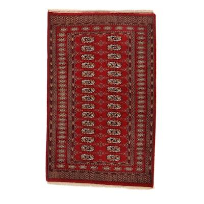 3'2 x 5'3 Hand-Knotted Pakistani Turkmen Bokhara Rug, 2000s