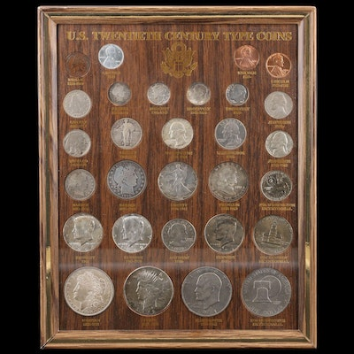 Framed Set of U.S. 20th Century Type Coins