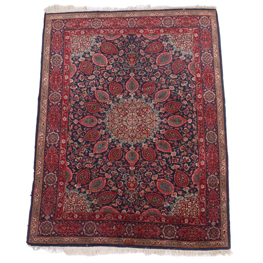 """4'11 x 6'11 Hand-Knotted Indo-Persian """"Ardabil Carpet"""" Area Rug"""