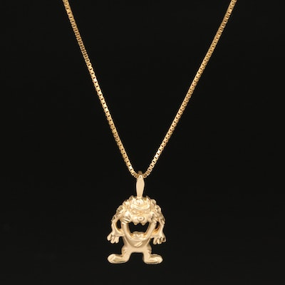 14K Cartoon Character Pendant Necklace