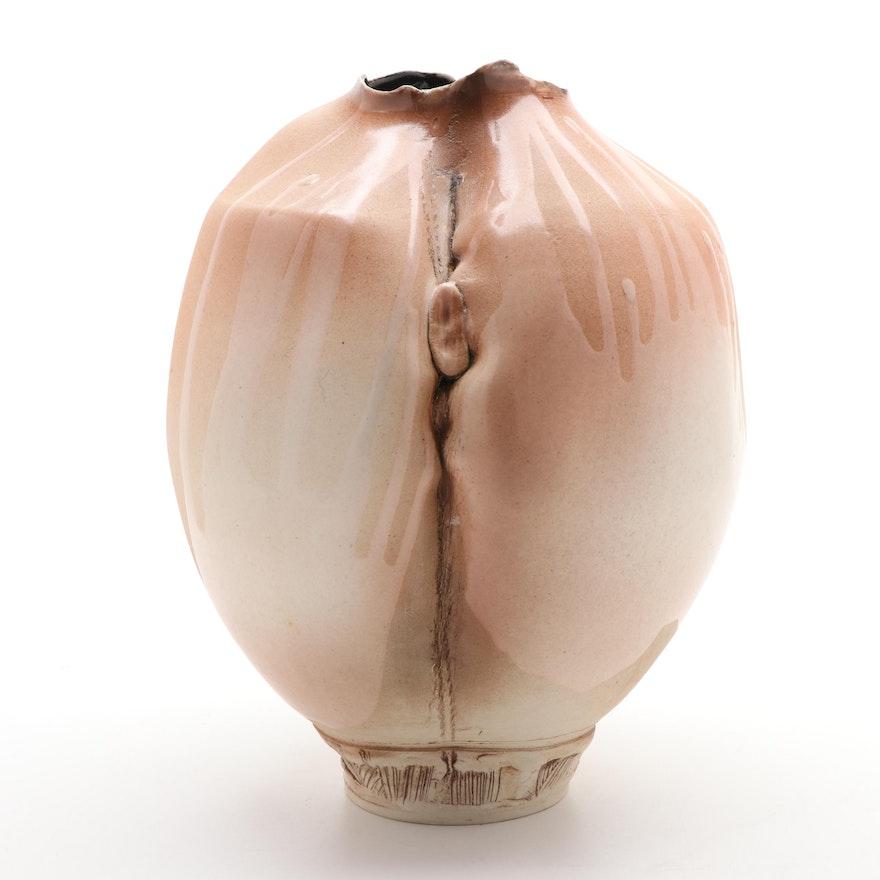 Aurora Art Pottery Ceramic Vase, Late 20th Century