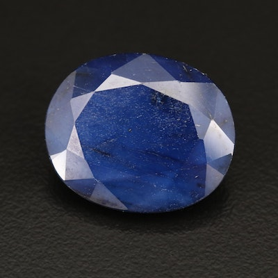 Loose 28.27 CT Oval Brilliant Cut Sapphire with GIA Report