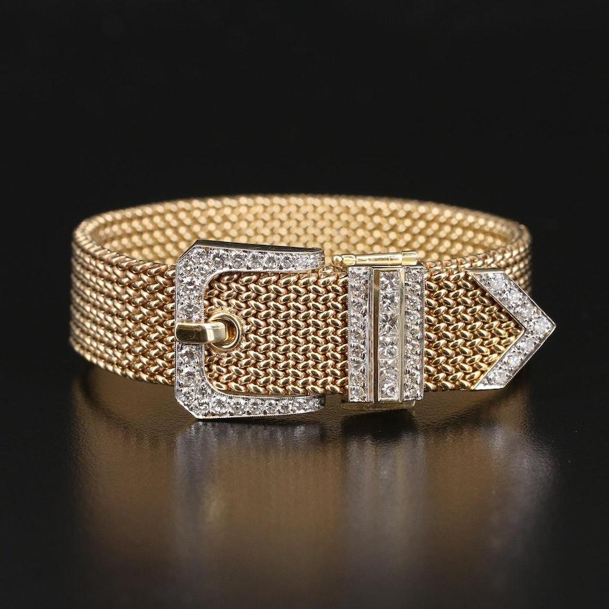 14K and 2.51 CTW Diamond Jarretière Bracelet