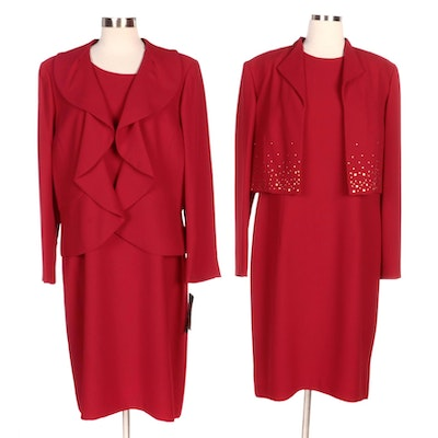 Maggy London and Kasper Red Dress Suits