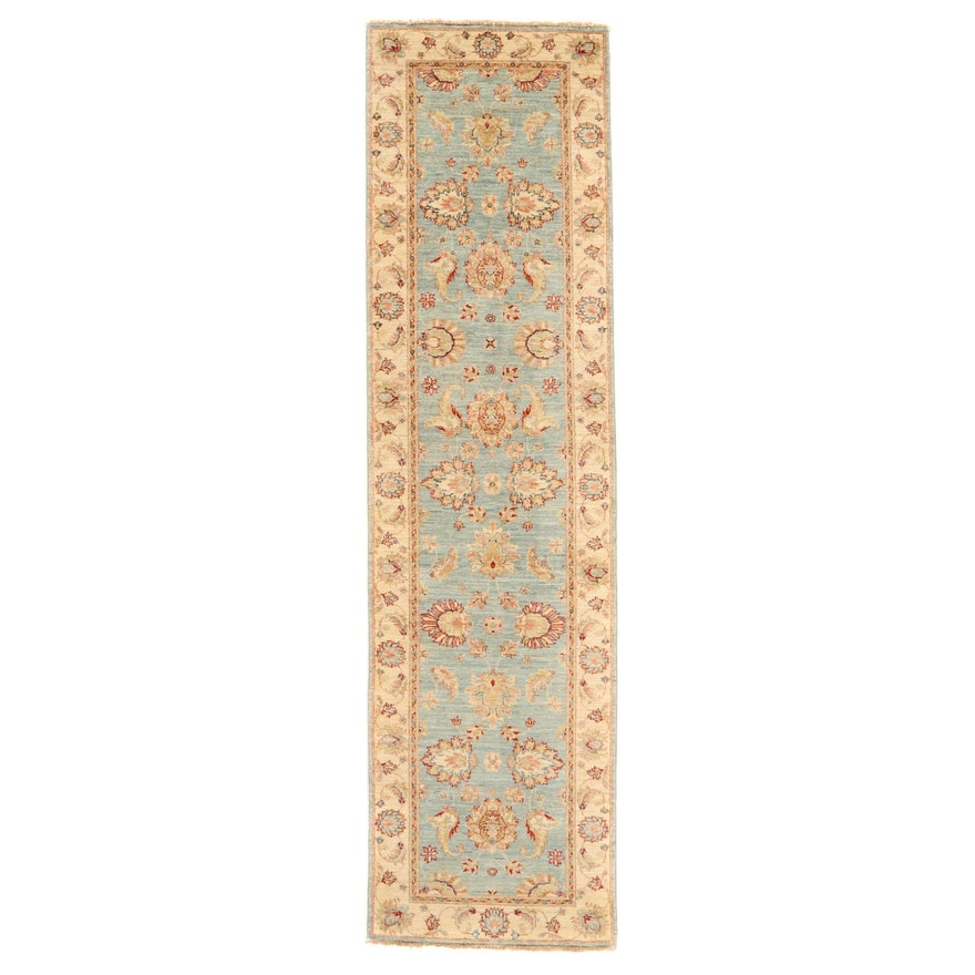 2'8 x 10'4 Hand-Knotted Afghan Persian Tabriz Carpet Runner, 2010s