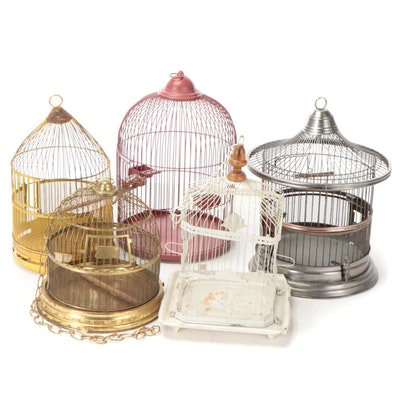 Mid Century Modern and BECO Chinoiserie Style Bird Cages, Mid/Late 20th C