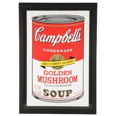 """Pop Art Serigraph """"Campbell's Golden Mushroom"""""""