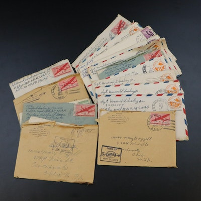 WWII Postal Covers and Correspondence from Africa, 1943
