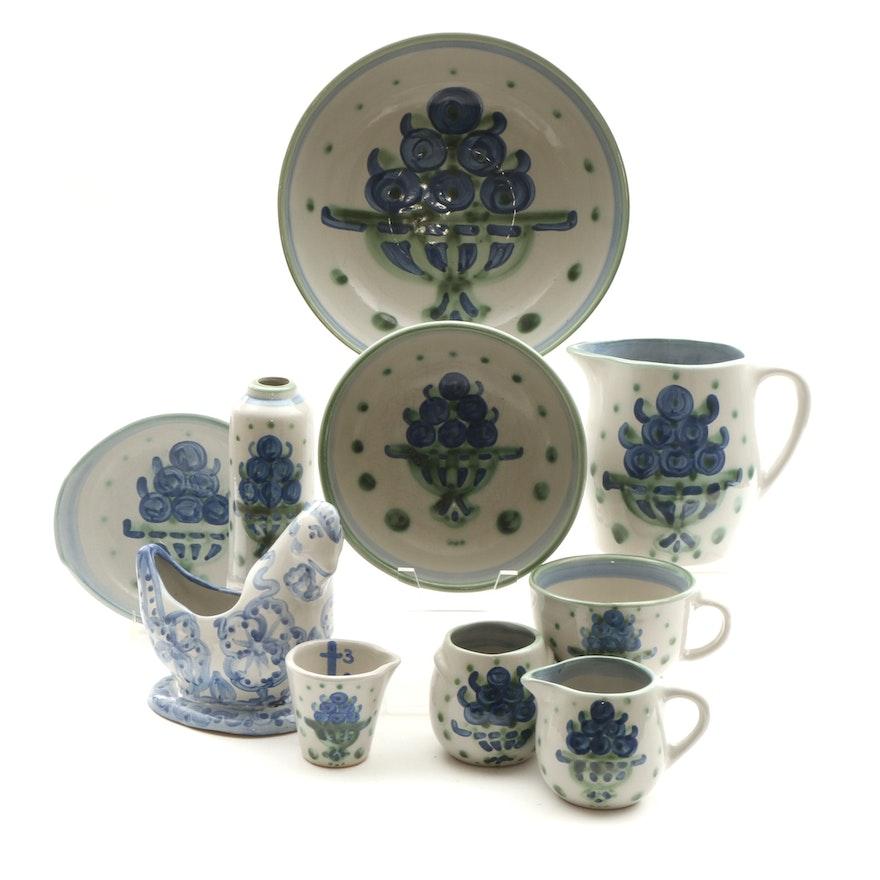 "M. A. Hadley ""Bouquet"" Stoneware Table Accessories"