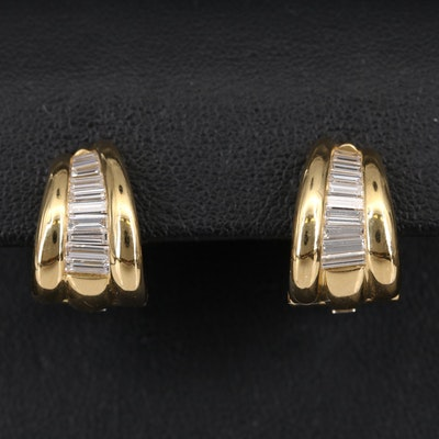 Mark Patterson 18K Diamond Graduated Clip Earrings