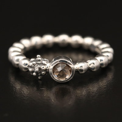 Michael Dawkins Sterling Silver Smoky Quartz Band