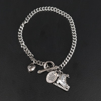 Juicy Couture 2011 Limited Edition Ice Skate Charm Bracelet